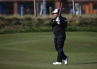 George Coetzee (RSA) in a scarf during the practice round before the 2014 Alfred Dunhill Links Championship, The Old Course, St Andrews, Fife, Scotland. Picture:  David Lloyd / www.golffile.ie