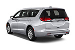 Car pictures of rear three quarter view of a 2018 Chrysler Pacifica LX 5 Door Mini Van angular rear