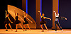 Bolshoi Ballet <br /> The Taming of the Shrew <br /> choreography by Jean-Christophe Maillot <br /> at The Royal Opera House, Covent Garden, London, Great Britain <br /> rehearsal of act 1<br /> 3rd August 2016 <br /> <br /> <br /> <br /> Anna Tikhomirova as The Housekeeper <br /> far right <br /> <br /> <br /> Photograph by Elliott Franks <br /> Image licensed to Elliott Franks Photography Services