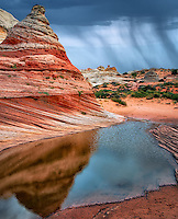 White Pocket with rain water pools. Vermilion Cliffs National Monument, Arizona