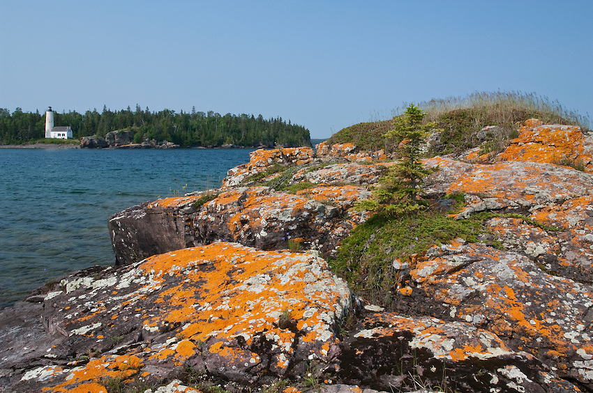Rock Harbor Lighthouse at Isle Royale National Park.