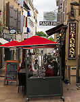 VMI Vincentian Heritage Tour: Street scenes in Dax, Saturday, June 25, 2016, one of France's most popular destinations for hot springs and thermal spas. Also famous for their madeleines, a small cookie. (DePaul University/Jamie Moncrief)