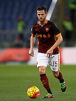 Calcio, Serie A: Roma vs Sampdoria. Roma, stadio Olimpico, 7 febbraio 2016.<br /> Roma&rsquo;s Miralem Pjanic in action during the Italian Serie A football match between Roma and Sampdoria at Rome's Olympic stadium, 7 January 2016.<br /> UPDATE IMAGES PRESS/Riccardo De Luca