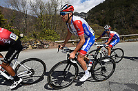 14th March 2020, Paris to Nice cycling tour, final day, stage 7;   PINOT Thibaut of Groupama - FDJ in action during stage 7 of the 78th edition of the Paris - Nice cycling race, a stage of 166,5km with start in Nice and finish in Valdeblore La Colmiane on March 14, 2020 in Valdeblore La Colmiane, France
