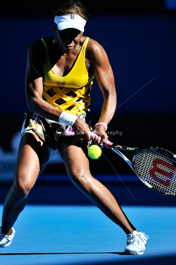 MELBOURNE, 19 JANUARY - Venus Williams (USA) in action during her second round match against Sandra Zahlavova (CZE) on day three of the 2011 Australian Open at Melbourne Park, Australia. (Photo Sydney Low / syd-low.com)