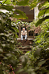 August 19, 2013. Hillsborough, North Carolina.<br />  Author Allan Gurganus, photographed at his home, has a new novel &quot;Local Souls&quot; being released in September.