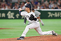 Ryo Akiyoshi (JPN), <br /> MARCH 14, 2017 - WBC : <br /> 2017 World Baseball Classic <br /> Second Round Pool E Game <br /> between Japan 8-5 Cuba <br /> at Tokyo Dome in Tokyo, Japan. <br /> (Photo by YUTAKA/AFLO SPORT)
