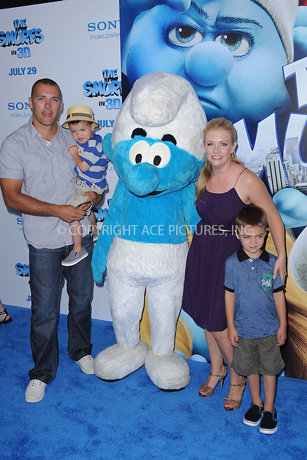 WWW.ACEPIXS.COM . . . . . .July 24, 2011...New York City....Mark Wilkerson and Melissa Joan Hart attends the premiere of 'The Smurfs' at the Ziegfeld Theater on July 24, 2011 in New York City....Please byline: KRISTIN CALLAHAN - ACEPIXS.COM.. . . . . . ..Ace Pictures, Inc: ..tel: (212) 243 8787 or (646) 769 0430..e-mail: info@acepixs.com..web: http://www.acepixs.com .