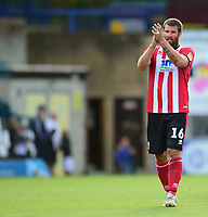 Lincoln City's Michael Bostwick applauds the fans at the final whistle<br /> <br /> Photographer Andrew Vaughan/CameraSport<br /> <br /> The EFL Sky Bet League One - Wycombe Wanderers v Lincoln City - Saturday 7th September 2019 - Adams Park - Wycombe<br /> <br /> World Copyright © 2019 CameraSport. All rights reserved. 43 Linden Ave. Countesthorpe. Leicester. England. LE8 5PG - Tel: +44 (0) 116 277 4147 - admin@camerasport.com - www.camerasport.com