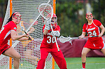 Los Angeles, CA 02/28/14 - Abigail Witczak (Marist #30) in action during the Marist Red Foxes vs University of Southern California Trojans NCAA Women's lacrosse game at Loker Track Stadium on the USC Campus.  Marist defeated USC 12-10.