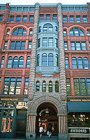 Seattle: Pioneer Building, 1889-90. Elmer Fisher, Ralph Anderson. 1st Ave. facade. 600 First.  Photo '86.