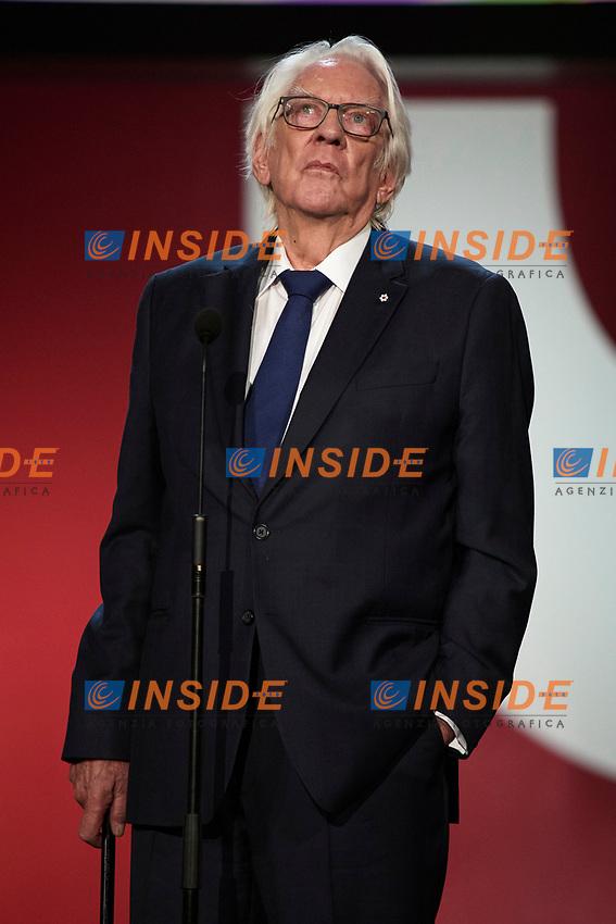 Donald Sutherland receive the donostia award during the 67th San Sebastian Donostia International Film Festival - Zinemaldia.September 26,2019.(ALTERPHOTOS/Yurena Paniagua)<br /> Photo Alterphotos / Insidefoto <br /> ITALY ONLY