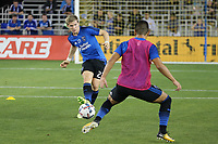 San Jose, CA - Wednesday September 27, 2017: Florian Jungwirth during a Major League Soccer (MLS) match between the San Jose Earthquakes and the Chicago Fire at Avaya Stadium.