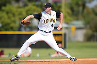 Pitcher Matt Dermody #40 of the Iowa Hawkeyes during a game vs the Seton Hall Pirates at the Big East-Big Ten Challenge at Walter Fuller Complex in St. Petersburg, Florida;  February 20, 2011.  Seton Hall defeated Iowa 2-0.  Photo By Mike Janes/Four Seam Images