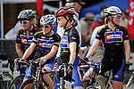 May 25, 2008:  Colorado Bike-Laws elite women's team at the start line of the Morehart Suburu Criterium at the 2008 Ironhorse Bicycle Classic, Durango, Colorado. ..