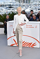 """CANNES, FRANCE - MAY 15: Tilda Swinton at photocall for """"The Dead Don't Die"""" during the 72nd annual Cannes Film Festival on May 15, 2019 in Cannes, France. <br /> CAP/PL<br /> ©Phil Loftus/Capital Pictures"""