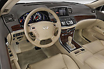 High angle dashboard view of a 2008 Infiniti M35
