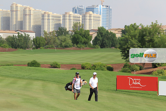 Anders Hansen (DEN) walks to the 8th green during Thursday's Round 1 of the season ending DP World Tour Championship 2012 held on the Earth Course at the Jumeirah Golf Estates,Dubai. 22nd November 2012 (Photo Eoin Clarke/www.golffile.ie)
