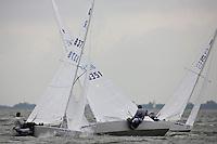 Medemblik - the Netherlands, May 28th 2009. Delta Lloyd Regatta in Medemblik (27/31 May 2009). Day 2. Stars sailing upwind.
