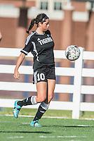 NWA Democrat-Gazette/ANTHONY REYES • @NWATONYR<br /> Gia Diaz, Bentonville senior, corrals the ball against Springdale Har-Ber Tuesday, May 5, 2015 at Wildcat Stadium in Springdale.