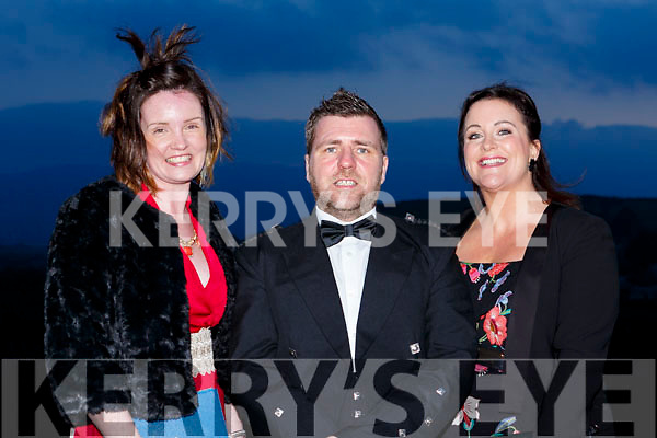 Tara Donoghue, David Laing (Tara Donoghue Photography) and Georgina Mackessy (Georgina Mackessy Make-up) attending the Brides of Kerry Awards in the Ballyroe Heights Hotel on Sunday evening last.