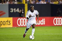 Lass Diarra (24) of Real Madrid. Real Madrid defeated A. C. Milan 5-1 during a 2012 Herbalife World Football Challenge match at Yankee Stadium in New York, NY, on August 8, 2012.