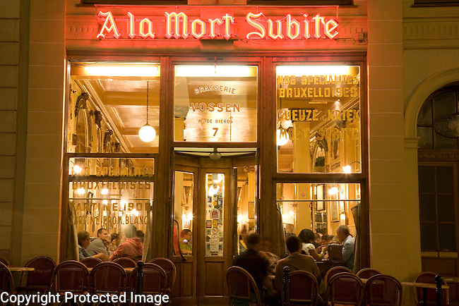 A la Mort Subite Cafe and Bar, Brussels; Belgium; Europe