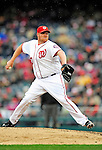 31 March 2011: Washington Nationals pitcher Todd Coffey on the mound in relief against the Atlanta Braves at Nationals Park in Washington, District of Columbia. The Braves shut out the Nationals 2-0 on Opening Day to start the 2011 Major League Baseball season. Mandatory Credit: Ed Wolfstein Photo