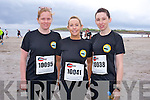 Caroline Farrell Casey, Carol O'Connor and Cora Kelliher at the The Brandon Bay half marathon and 10k run, Ireland's first and only running event entirely run on a beach,  in the Maharees, Castlegregory,  on Saturday