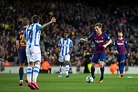 7th March 2020; Camp Nou, Barcelona, Catalonia, Spain; La Liga Football, Barcelona versus Real Sociedad;  Ivan Rakitic of FC Barcelona breaks forward on the ball
