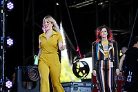 LONDON, ENGLAND - JUNE 30: Lindsey Troy and Julie Edwards of 'Deap Vally' performing at Finsbury Park on June 30, 2018 in London, England.<br /> CAP/MAR<br /> &copy;MAR/Capital Pictures