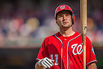 15 September 2013: Washington Nationals third baseman Ryan Zimmerman steps up to the plate during action against the Philadelphia Phillies at Nationals Park in Washington, DC. The Nationals took the rubber match of their 3-game series 11-2 to keep their wildcard postseason hopes alive. Mandatory Credit: Ed Wolfstein Photo *** RAW (NEF) Image File Available ***