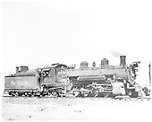 Engineer side of D&amp;RGW #496 K-37.<br /> D&amp;RGW  Alamosa, CO  1952