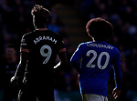 Hamza Choudhury of Leicester City and Tammy Abraham of Chelsea during the Premier League match at the King Power Stadium, Leicester. Picture date: 1st February 2020. Picture credit should read: Darren Staples/Sportimage