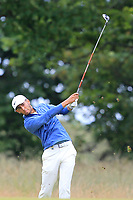 Jack Singh Brar (ENG) on the 1st during Round 2 of the Aberdeen Standard Investments Scottish Open 2019 at The Renaissance Club, North Berwick, Scotland on Friday 12th July 2019.<br /> Picture:  Thos Caffrey / Golffile<br /> <br /> All photos usage must carry mandatory copyright credit (© Golffile | Thos Caffrey)