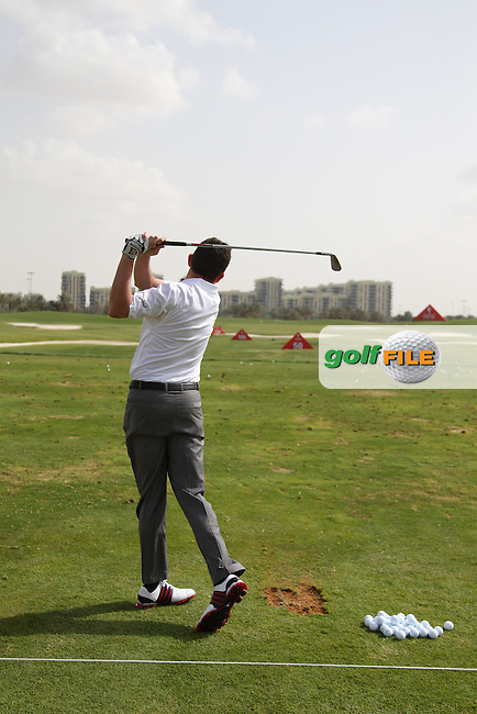 Peter Lawrie (IRL) swing sequence during the Abu Dhabi HSBC Championship, in the Abu Dhabi Golf club..(Photo Eoin Clarke/www.golffile.ie)
