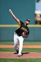 Pittsburgh Pirates pitcher Deolis Guerra (64) during a Spring Training game against the Boston Red Sox on March 12, 2015 at McKechnie Field in Bradenton, Florida.  Boston defeated Pittsburgh 5-1.  (Mike Janes/Four Seam Images)