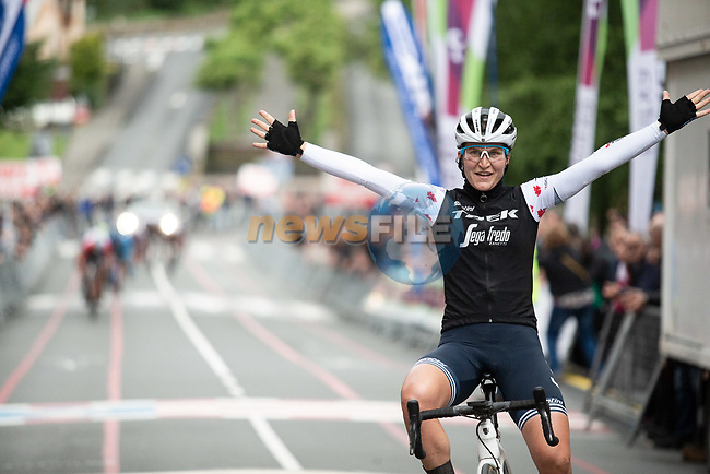 Elisa Longo-Borghini (ITA) Trek-Segafredo wins Stage 4 of the 2019 Emakumeen Bira, running 155.8 km starting and finishing in Onati, Spain. 25th May 2019.  <br /> Picture: Trek/Balint Hamvas/Velofocus | Cyclefile<br /> <br /> <br /> All photos usage must carry mandatory copyright credit (© Cyclefile | Trek/Balint Hamvas/Velofocus)