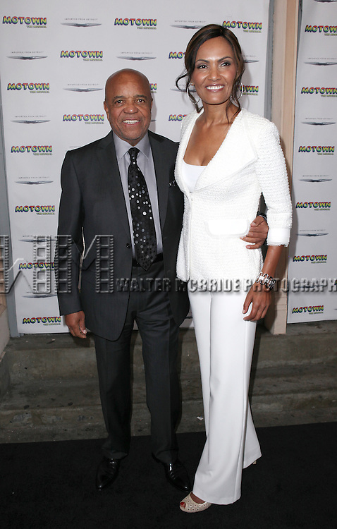 Berry Gordy and Eskedar Gobeze attending the Broadway World Premiere Launch for 'Motown: The Musical' at the Nederlander in New York. Sept. 27, 2012
