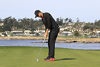 Patrick Rodgers (USA) putts on the 7th green during Sunday's Final Round of the 2018 AT&amp;T Pebble Beach Pro-Am, held on Pebble Beach Golf Course, Monterey,  California, USA. 11th February 2018.<br /> Picture: Eoin Clarke | Golffile<br /> <br /> <br /> All photos usage must carry mandatory copyright credit (&copy; Golffile | Eoin Clarke)