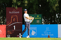 Sean Crocker (USA) during the first round of the Ras Al Khaimah Challenge Tour Grand Final played at Al Hamra Golf Club, Ras Al Khaimah, UAE. 31/10/2018<br />