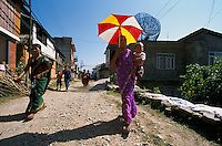 Daily life in Gorkha city..-The full text reportage is available on request in Word format