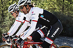Trek Factory Racing launch their new team kit worn here by Fabian Cancellara (SUI) at a training camp in Spain. 8th January 2015<br /> Photo: Eoin Clarke www.newsfile.ie