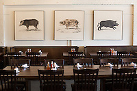 DURHAM, N.C. Tuesday August 5, 2014 - Art work inside The Pit Authentic Barbecue in Durham, N.C. (Justin Cook for The New York Times)