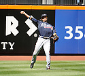 MARTIN PRADO, of the Atlanta Braves, in action during the Braves game against the New York Mets on April 7, 2012 at Citi Field in Corona, NY. The Mets beat the Braves 4-2.