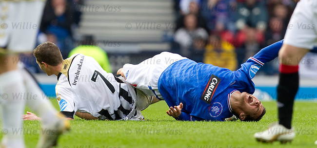 Hugh Murray goes right through Lee McCulloch and gets booked