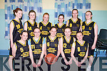 The Currowbasketball team who participated in the U16 girls basketball cup final in Cumann Iosaef gym