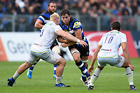 Francois Louw of Bath Rugby takes on the Saracens defence. Aviva Premiership match, between Bath Rugby and Saracens on September 9, 2017 at the Recreation Ground in Bath, England. Photo by: Patrick Khachfe / Onside Images
