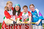 Enjoying the Kelloggs Hurling Cul Camps in Causeway on Friday were: Stackey Leahy, Ellen O'Donoghue, Keith McElligott and Marissa Hanly.
