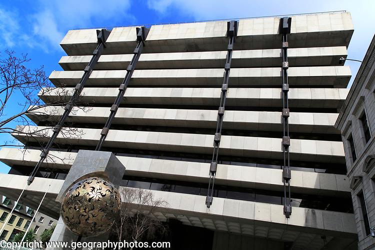 Modern architecture office block, Central Bank of Ireland building, city of Dublin, Ireland, Irish Republic